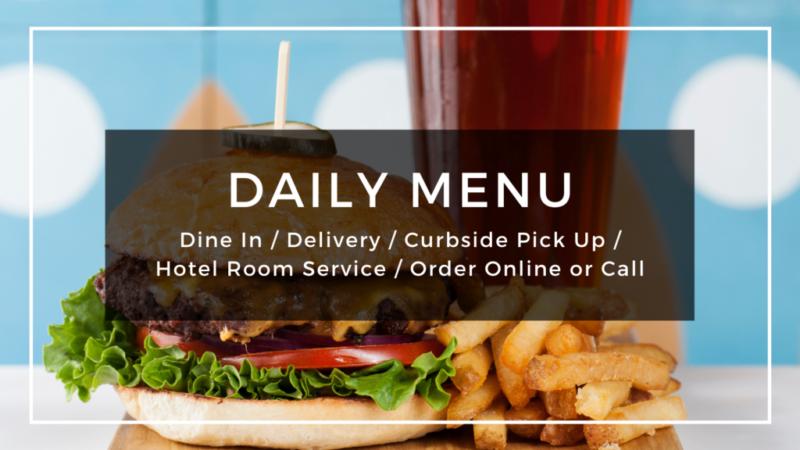 Dine in open - menus page